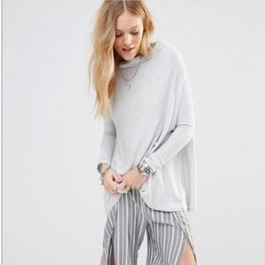 We The Free Womens Cowl Neck Ribbed Tunic